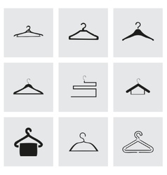 hanger icons set vector image vector image