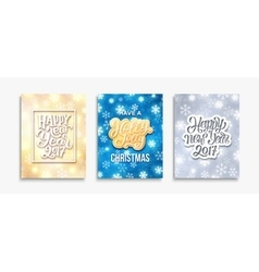 Happy New Year 2017 and Merry Christmas cards vector image