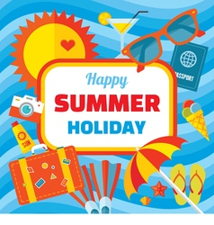 Happy summer holiday - creative banner vector