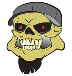 hard core skull vector image