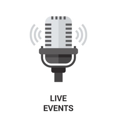 Live events icon vector