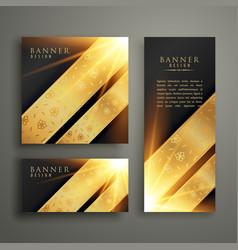 Luxury invitation banner card template design vector