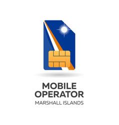 Marshall islands mobile operator sim card with vector