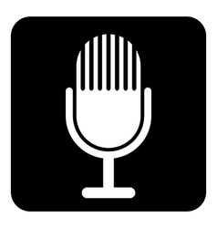 Microphone symbol button vector image