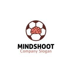 Mind shoot design vector