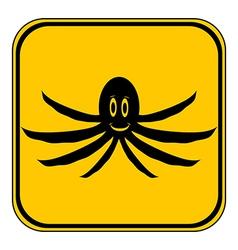 Octopus button vector image vector image