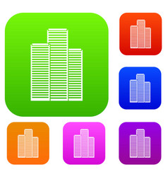 Skyscrapers in singapore set collection vector