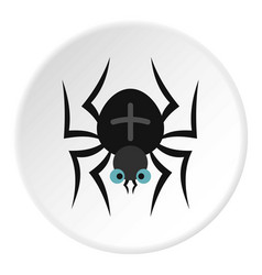 spider icon circle vector image vector image