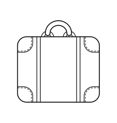 Suitcase isolated Linear flat icon object vector image vector image
