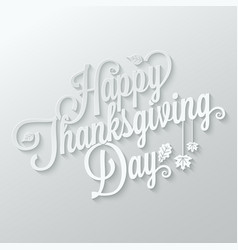 thanksgiving autumn paper lettering background vector image vector image