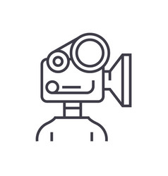 video camera production linear icon sign symbol vector image