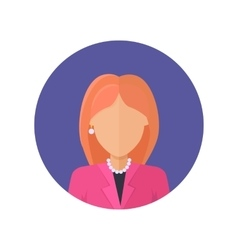 Woman Character Avatar in Flat Design vector image vector image
