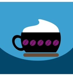 Flat icon design collection cappuccino vector