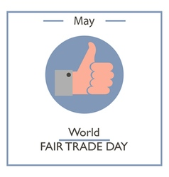 World fair trade day vector