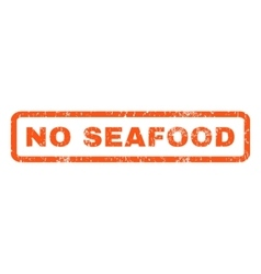 No seafood rubber stamp vector