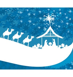 Birth of jesus in bethlehem - abstract card vector