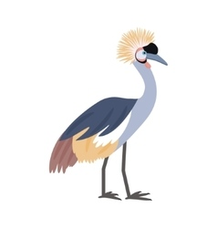 African bird crowned crane vector