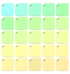 Set of curl flat paper corner vector