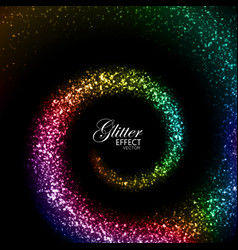 magic glowing trail of particles vector image