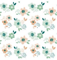 simple pale color floral decorative seamless vector image