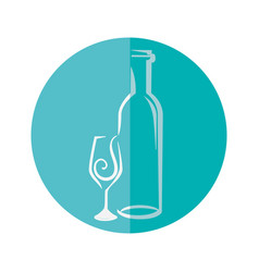 delicious wine cup vector image