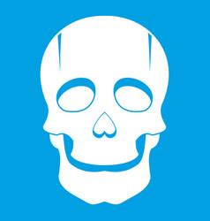 Singer mask icon white vector