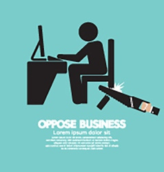 Oppose business black symbol vector