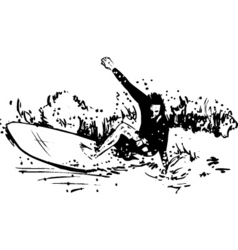 Surfer long board vector