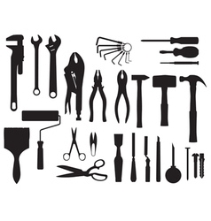 Fix and tools black and white vector