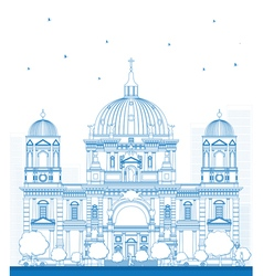 Outline berlin cathedral vector