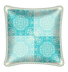 Decorative throw pillow vector