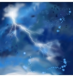 Night storm sky painting background vector