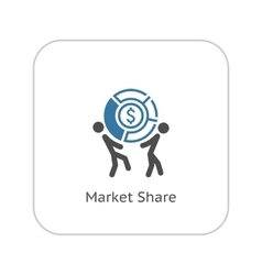 Market share icon business concept flat design vector