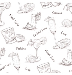 Color pattern contemporary classics cocktails vector