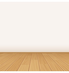 empty room with wall and wooden floor vector image