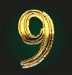 9 golden letter vector image vector image