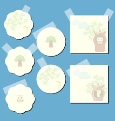 paper notes with decorative elements vector image