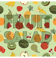Fruit salad decoration vector