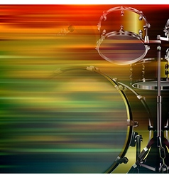abstract brown motion blur background with drum vector image vector image