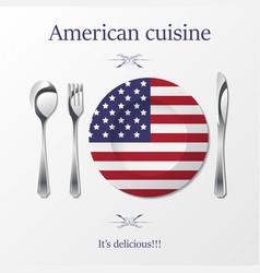 American cuisine cutlery vector