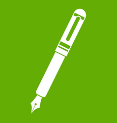 black fountain pen icon green vector image vector image