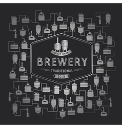 Card template with beer brewery element vector image vector image