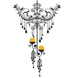 chandelier silhoeutte vector image