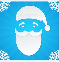 christmas postcard santa 1 vector image vector image