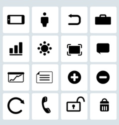 Clean Black Web icons set 2 vector image vector image