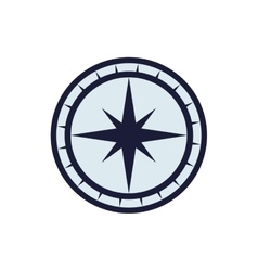 Compass nautical direction star icon vector