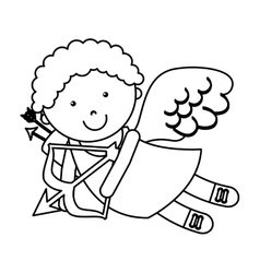 cute angel cupid character vector image