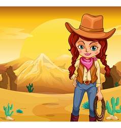 Desert Cowgirl vector image