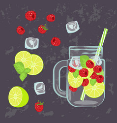 Detox water menu vector