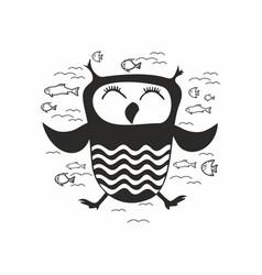 Dream owl vector
